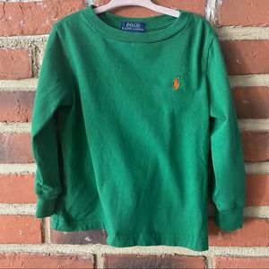 🌈 5 for $25 Green Polo tee Sz 2T